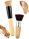2 Pennelli per il trucco Professionale Pennello per cipria / Pennello per correttore / Pennello per polveri Pennello di nylon / Capelli sintetici Ecologico / Professionale / Soffice Legno / Metallo