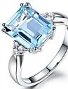 Pentru femei Sintetic Aquamarine / Zirconiu Cubic Lung Band Ring - Vintage, Elegant 6 / 7 / 8 Albastru Deschis Pentru Nuntă / Logodnă / Ceremonie