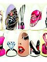 5 pcs Autocollants Manucure Manucure pedicure Design Tendance Decalques pour ongles Usage quotidien / Festival
