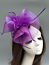 Feather / Net Fascinators / Hats / Headdress with Feather / Floral / Flower 1pc Wedding / Special Occasion Headpiece