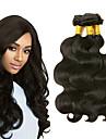 3 Bundler Peruviansk hår Krop Bølge 8A Menneskehår Hovedstykke Menneskehår, Bølget Udvidelse 8-28 inch Sort Naturlig Farve Menneskehår Vævninger Bedste kvalitet Ny ankomst Hot Salg Menneskehår