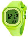 SYNOKE Herre Dame Sportsklokke Digital Watch Digital Silikon Svart / Hvit / Blaa 50 m Vannavvisende Kalender Kronograf Digital Mote - Groenn Blaa Rosa / Stoppeklokke / Selvlysende