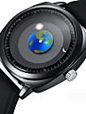Erkek Elbise Saat Bilek Saati Japonca Quartz Silikon Siyah 50 m Yaratıcı Havalı Analog Günlük Moda - Siyah Bir yıl Pil Ömrü / Paslanmaz Çelik
