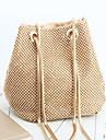 Γυναικεία Τσάντες Πολυεστέρας / Σατέν Βραδινή τσάντα Κρυστάλλινη λεπτομέρεια Χρυσό / Μαύρο / Ασημί