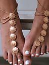 Sandale Desculț - Floare Vintage Auriu / Argintiu Pentru Zilnic / Casual / Sport / Pentru femei