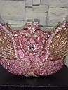 Γυναικεία Τσάντες Κράμα Βραδινή τσάντα Κρυστάλλινη λεπτομέρεια / Με Τρύπες Ανθισμένο Ροζ