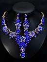 Dámské Klasika Šperky Set stylové, Evropský, Elegantní Zahrnout Visací náušnice Náhrdelník Zelená / Modrá / Tmavě červená Pro Svatební Denní