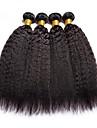 4 bundels Braziliaans haar Yaki Echt haar Menselijk haar weeft / Verlenging / Bundle Hair 8-28 inch(es) Natuurlijke Kleur Menselijk haar weeft Machinegemaakt Zijdeachtig / Glad / Beste kwaliteit