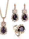 Γυναικεία Ζαφειρένιο Κομψό Ενιαία Δέσμη Κοσμήματα Σετ Στρας, Αυστριακό κρύσταλλο Αχλάδι κυρίες, Βρετανικό, Αναγέννησης Περιλαμβάνω / Κρεμαστά Σκουλαρίκια / Κρεμαστά Κολιέ / Νυφικό κόσμημα σετ