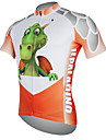 ILPALADINO Men\'s Short Sleeve Cycling Jersey - Red Dinosaur Bike Jersey Top Breathable Quick Dry Ultraviolet Resistant Sports 100% Polyester Mountain Bike MTB Road Bike Cycling Clothing Apparel