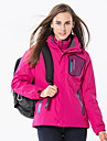 Women\'s Hiking Down Jacket Hiking 3-in-1 Jackets Outdoor Winter Windproof Waterproof Rain-Proof Detachable Cap Down Down Jacket Full Length Hidden Zipper Ski / Snowboard Camping / Hiking / Caving