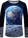 T-shirt Per uomo Boho / Moda citta Con stampe, Monocolore / 3D