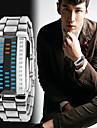 Heren Sporthorloge Digitaal horloge Japans Digitaal Roestvrij staal Zwart / Zilver 30 m Waterbestendig Kalender Chronograaf Digitaal Bangle Modieus - Zwart Zilver Twee jaar Levensduur Batterij