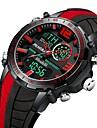 Heren Sporthorloge Digitaal horloge Japans Japanse quartz Silicone Rood / Geel / Blauw 30 m LCD Dubbele tijdzones s Nachts oplichtend Analoog-Digitaal Informeel Modieus - Geel Rood Blauw Een jaar