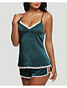 Women\'s Cotton Sexy Matching Bralettes Nightwear - Backless Solid Colored