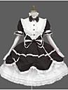 Sød Lolita Casual Lolita Dress Sød Lolita Elegant Blonde Dame Kjoler Cosplay Sort / Blå / Lys pink Pufærmer Langærmet Knælang Kostumer