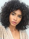 Remy Human Hair Full Lace Lace Front Wig Asymmetrical Rihanna style Brazilian Hair Afro Curly Kinky Curly Black Wig 150% 180% Density Best Quality Hot Sale Cool curling Youth Natural Black Women\'s