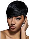 Perucas de cabelo capless do cabelo humano Cabelo Humano Ondulado Ondulado Natural Corte Pixie Com Franjas Para Mulheres Negras Peruca