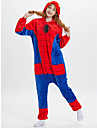 Adults\' Kigurumi Pajamas Anime Spider Onesie Pajamas polyester fibre Red Cosplay For Men and Women Animal Sleepwear Cartoon Festival / Holiday Costumes