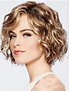 Συνθετικές Περούκες Κύμα Νερού Στυλ Κούρεμα καρέ Χωρίς κάλυμμα Περούκα Χρυσό Blonde Συνθετικά μαλλιά 12INCH Γυναικεία Ρυθμιζόμενο / Ανθεκτικό στη Ζέστη / Κλασσικό Χρυσό Περούκα Κοντό Περούκα άνιμε
