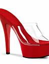 Mulheres Jelly Sandals PVC Primavera / Verao Sapatos clube Saltos Salto Agulha Branco / Preto / Vermelho / Casamento / Festas & Noite / Festas & Noite