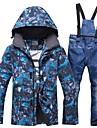 RIVIYELE Homme Veste et Pantalons de Ski Coupe Vent Chaud Respirabilite Sports d\'hiver Coton Polyester Toile de jean Ensemble de Vetements Tenue de Ski / Hiver