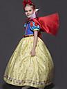 Prinsesse Kjoler Cosplay Kostumer Barn Jente Tegneserie Jul Halloween Barnas Dag Festival / hoeytid Velourstoff Blaa Karneval Kostumer Prinsesse