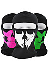 Pollution Protection Mask Orange Fuchsia Green Moisture Wicking Breathability Dust Proof Outdoor Exercise Back Country Bike / Cycling All Skull Polyester Terylene / Micro-elastic / UV Resistant
