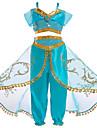 Princess Jasmine Cosplay Kostumer Barne Jente Halloween Jul Halloween Karneval Festival / hoeytid Tyll Polyester Groenn Karneval Kostumer Prinsesse