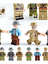 Building Blocks Block Minifigures Construction Set Toys 12 pcs Military City Soldier compatible Legoing Simulation All Boys\' Girls\' Toy Gift / Educational Toy