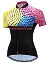 TELEYI Kadın\'s Kısa Kollu Bisiklet Forması - Pembe Çiçek / Botanik Bisiklet Forma Nefes Alabilir Hızlı Kuruma Spor Dalları Polyester Dağ Bisikletçiliği Yol Bisikletçiliği Giyim / Streç