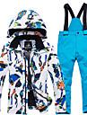 ARCTIC QUEEN Garcon Fille Veste et Pantalons de Ski Coupe Vent Chaud Respirabilite Ski Camping / Randonnee Snowboard Polyester Ecologique Polyester Survetement Salopettes Hauts / Top Tenue de Ski