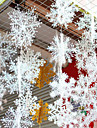 عطلة زينة رأس السنة / ديكور عيد الميلاد المجيد عيد الميلاد الحلي ديكور أبيض 6PCS
