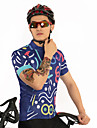 FirtySnow Heren Korte mouw Wielrenshirt - Donkerblauw Fietsen Shirt Ademend Sneldrogend Sport Polyester Bergracen Wegwielrennen Kleding / Rekbaar / SBS ritsen