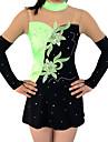Rhythmic Gymnastics Leotards Women\'s / Girls\' Leotard Green High Elasticity Competition Handmade Print / Shading Long Sleeve Rhythmic Gymnastics / Artistic Gymnastics