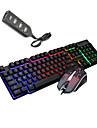 LITBest K6 USB سلكي كومبو لوحة المفاتيح الماوس محمول لوحة مفاتيح الألعاب مضيء لعب الفأر / ماوس مكتب / الماوس مريح 1600 dpi