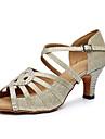 Pentru femei Pantofi Dans Latin Sintetice Călcâi Detalii Cristal Toc Cubanez Personalizabili Pantofi de dans Auriu