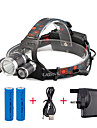 U\'King Headlamps LED LED 3 Emitters 2400 lm 4 Mode with Batteries and Charger Compact Size Easy Carrying Camping / Hiking / Caving Everyday Use Cycling / Bike