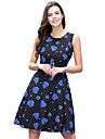 Audrey Hepburn Polka Dots Retro / Vintage 1950s Costume Women\'s Dress Purple / Red / Blue Vintage Cosplay Sleeveless Knee Length