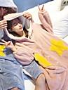 Adults\' Hoodie Kigurumi Pajamas Star Onesie Pajamas Coral Velve Blue / Pink / Ink Blue Cosplay For Men and Women Animal Sleepwear Cartoon Festival / Holiday Costumes