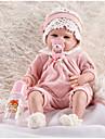 FeelWind Munecas reborn Muneca chica Bebes Ninos Bebes Ninas 22 pulgada Silicona Vinilo - natural Hecho a Mano Bonito Ninos / Adolescentes No toxico Kid de Unisex Juguet Regalo