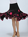 Ballroom Dance Bottoms Women\'s Training / Performance Polyester Appliques / Ruching High Skirts