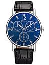 Heren mechanische horloges Digitaal Leer Zwart / Bruin Neen LCD Analoog-Digitaal Modieus - Zwart Donkerblauw Bruin Een jaar Levensduur Batterij