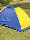 Sheng yuan 1 شخص خيمة التخييم العائلية في الهواء الطلق ضد الهواء مكتشف الأمطار التنفس إمكانية طبقة واحدة قطب الماسورة خيمة التخييم <1000 mm إلى Camping / Hiking / Caving تنزه الألياف الزجاجية