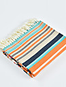 Multifunctional Blankets, Striped / Simple / Classic Acrylic Fibers Warmer Tassel Soft Blankets
