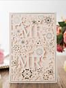 Piegato da un lato Inviti di nozze 20 - Invito Cards Artistico Carta pura 18.4*12.8cm Decorazioni in rilievo