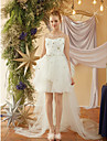 A-라인 끈없는 스타일 무릎 길이 튤 / 스팽글 Made-To-Measure 웨딩 드레스 와 으로 LAN TING BRIDE®