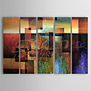 Oil Painting Hand Painted - Abstract Classic Modern Canvas Five Panels