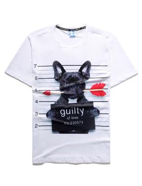 T-shirt med grafisk tryk