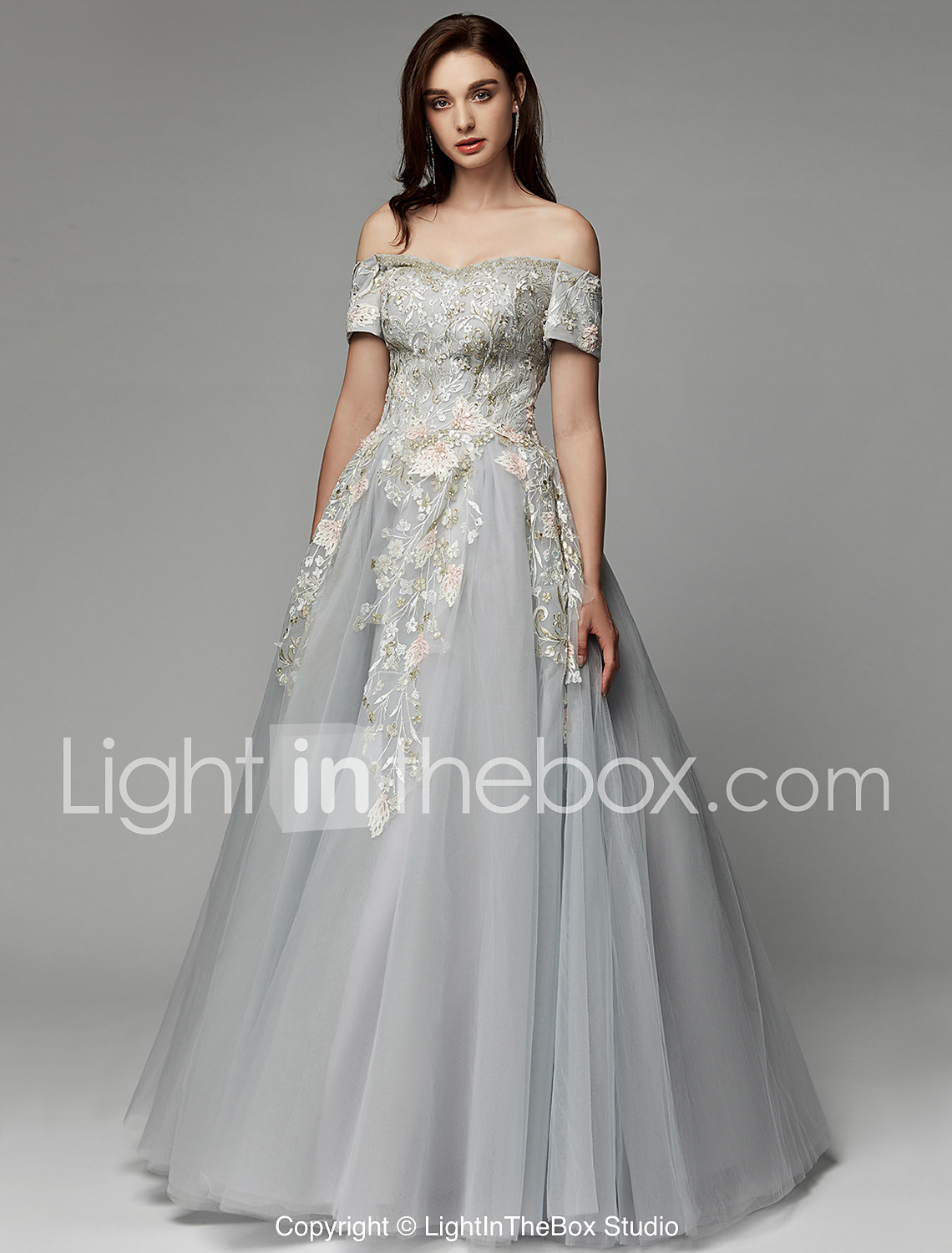b07cab12c72 Ball Gown Off Shoulder Floor Length Satin   Tulle Prom   Formal ...